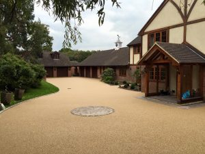 resin surfaces laid as a driveway