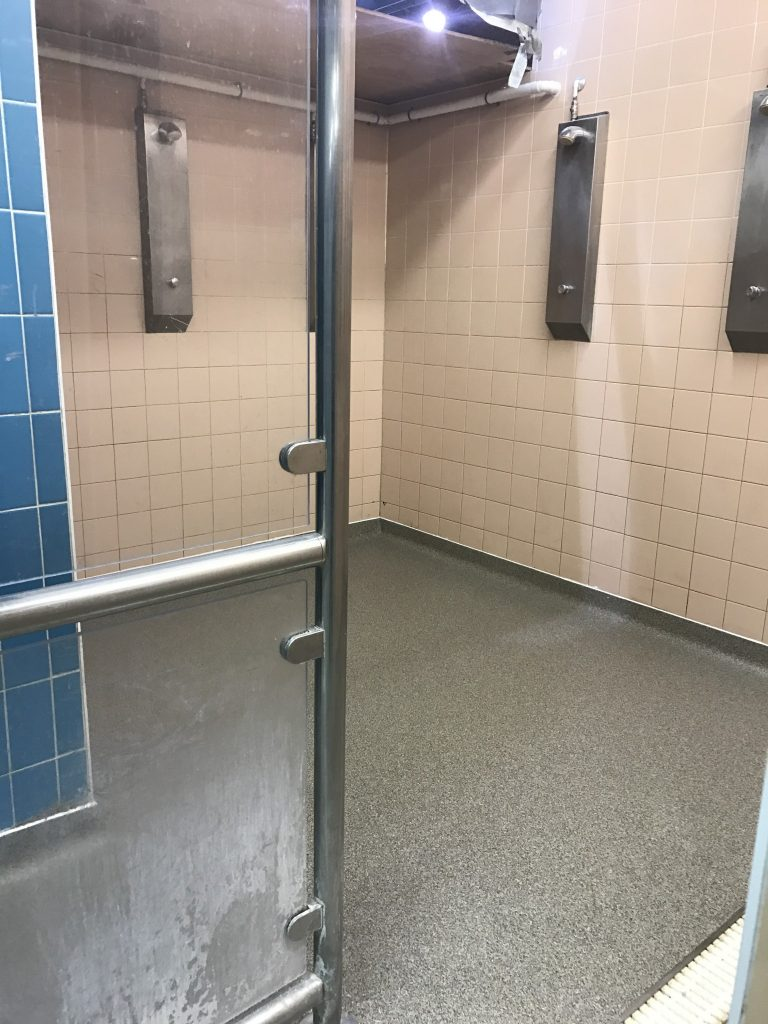 Changing room flooring wet room flooring shower floor from with a non slip additive it is seamless and hence easier to clean no grout joins it has proved to be very popular with schools and holiday parks doublecrazyfo Image collections