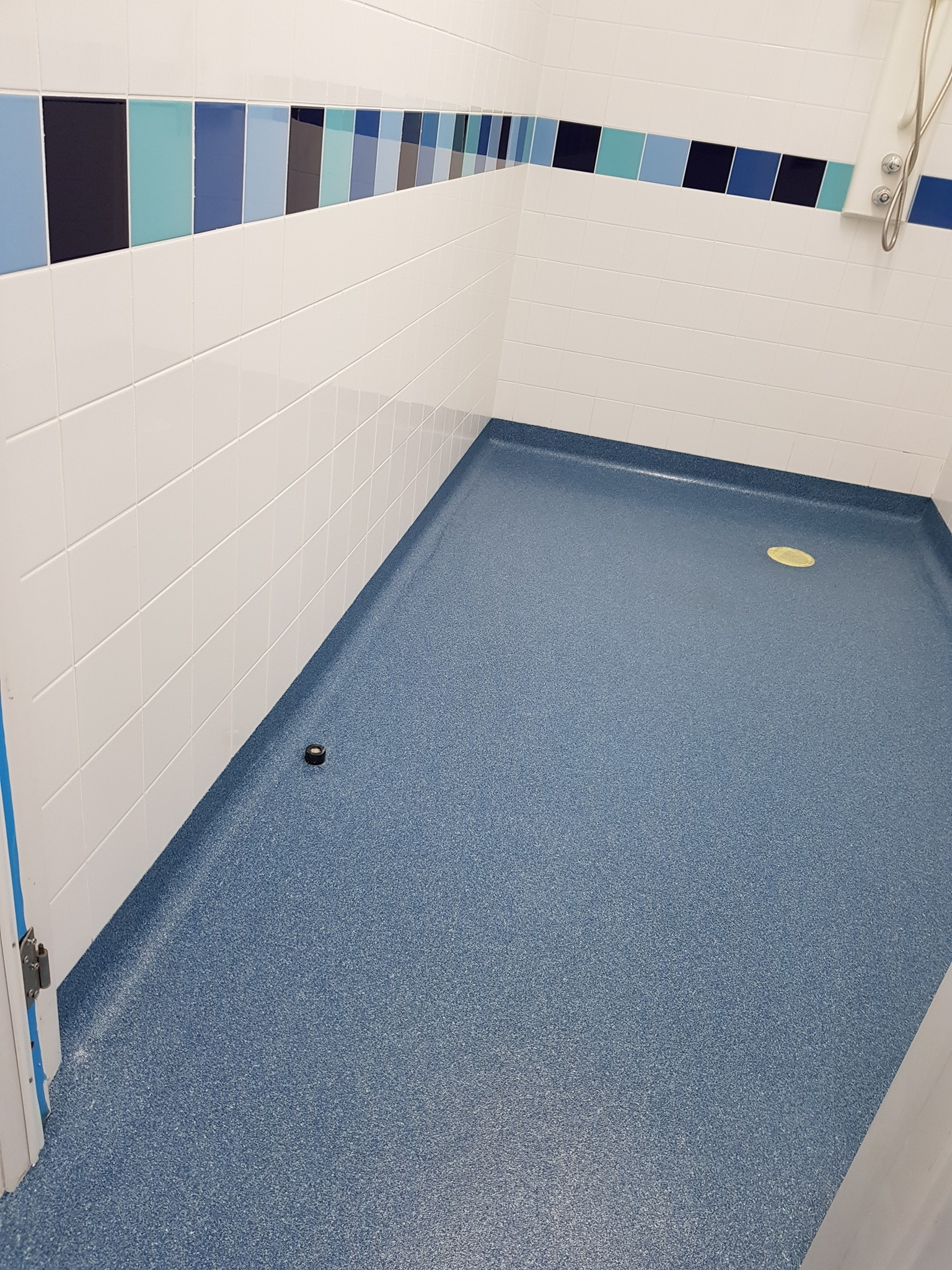 Changing room flooring wet room flooring shower floor from flexflooring have been awarded numerous contracts all over the country installing the floor in pool changing areas including dailygadgetfo Image collections