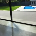 resin patio with decoration